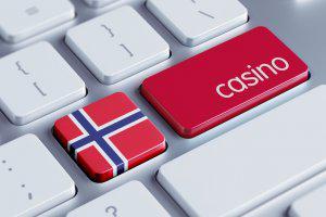 Tastatur med norsk flagg og sterke farger i rødt, hvitt og blått